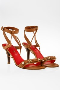 Céline Tan Leather Sandals with Straps / Size: 36 C - Fit: 36.5