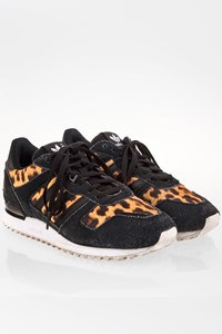 Adidas ZX 700W Black Suede-Animal Print Sneakers / Size: 38 2/3 - Fit: True to size