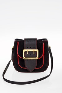 Burberry London Black Suede MIni Crossbody Bag
