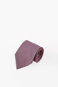 Hermès Silk Printed Tie in Lilac and Blue Shades