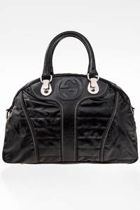 Gucci Snow Glam Patent Leather Tote Bag