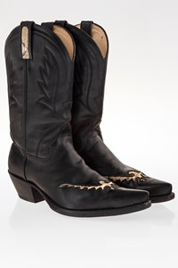 Tony Mora Black Leather Cowboy Boots / Size: 40 - Fit: True to size