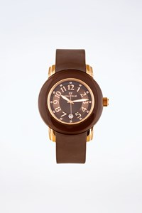 Folli Follie Brown Watch with Rose Gold Hardware