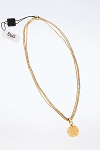 D&G Gold Stainless Steel Logo Necklace