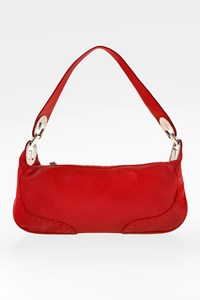 Escada Red Eluna Leather Shoulder Bag