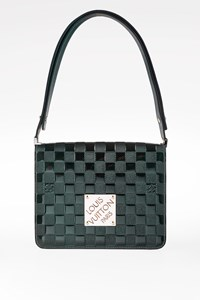 Louis Vuitton Forest Green Limited Edition Damier Vernis Cabaret Club Shoulder Bag