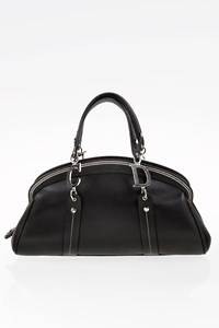Dior Black Leather Detective Frame Satchel Bag