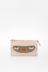 See by Chloé Ecru Mini Leather Clutch