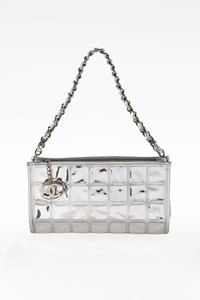 Chanel Silver Runway Ice Cube Pochette