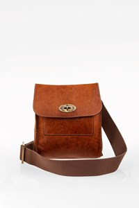 Mulberry Oak Natural Leather Antony Crossbody Bag