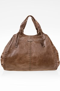 Tod's Taupe Leather Tote Bag