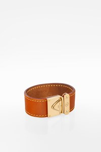 Louis Vuitton Serrure Tan Suhali Leather Cuff Bracelet