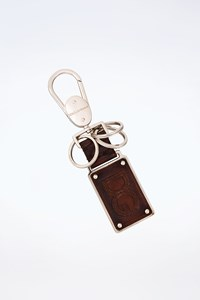 D&G Brown Leather Charms Keyholder