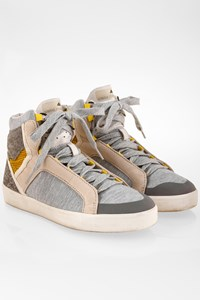Adidas by Stella McCartney Grey Sneakers with Mixed Fabrics / Size: 39 1/3 - Fit: 38.5