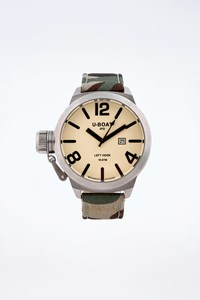 U-Boat Military IFO Left Hook Watch with Extra Leather Strap