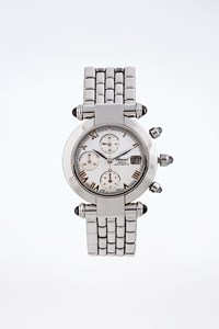 Chopard Imperiale Steel White Chronograph Watch