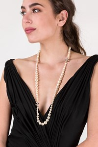 Chanel Gold Plated and Faux Pearl Long Necklace
