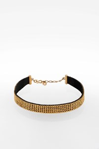 Swarovski Choker with Gold Swarovski Crystals