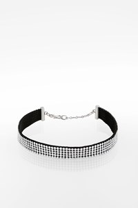 Swarovski Choker with White Swarovski Crystals