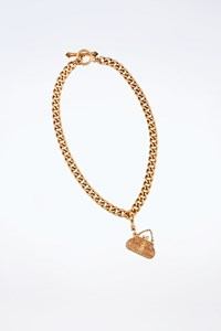 "Juicy Couture Golden Chain Necklace with ""Bag"" Charm"