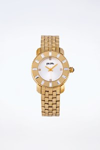 Folli Follie Gold Bracelet Watch with Crystals