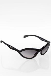 Prada SPR05N Black Acetate Cat Eye Sunglasses