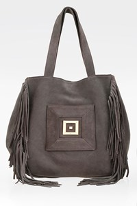 Themis Z Grey Cleo Tassled Tote Bag