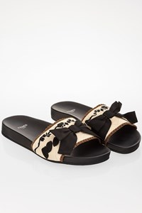Fendi Ecru Fabric Flip Flops / Size: 37 - Fit: 37.5