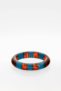 Marc By Marc Jacobs Brown and Blue Resin Bangle