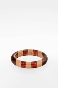 Marc By Marc Jacobs Brown and Beige Resin Bangle