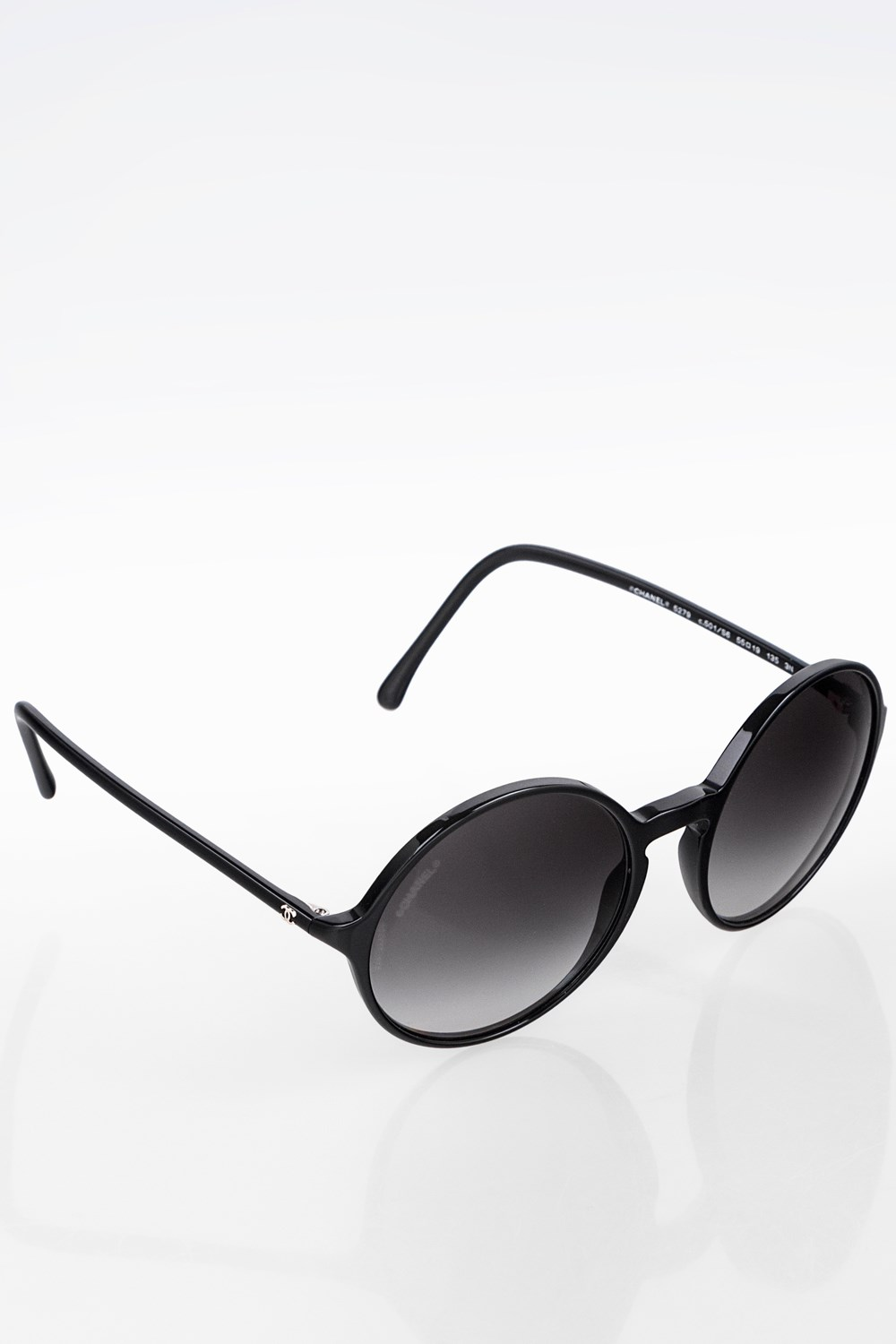 741b9b3e09a Black 5279 501 S6 Acetate Round Sunglasses