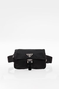 Prada Black Nylon and Leather Belt Bag