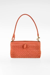 Bottega Veneta Salmon Intrecciato Leather Frame Pochette