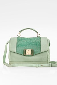 See by Chloé Suzie Aqua Green Leather Cross Body Bag
