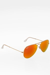 Ray Ban RB3025 Orange Mirror Large Aviator Metal Sunglasses