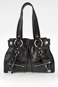 Dkny Black Leather Tote Bag