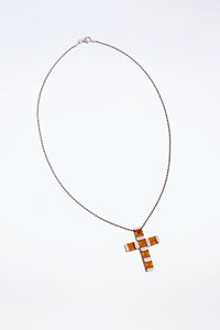 No Brand White Gold and Citrine Stones Necklace