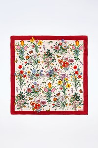 Gucci Multicoloured Floral Silk Scarf