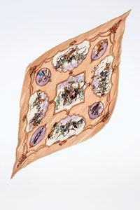 Hermès Multicoloured Plisse Silk Scarf