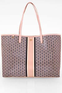 Tory Burch Pale Pink Gemini Link Canvas Tote Bag