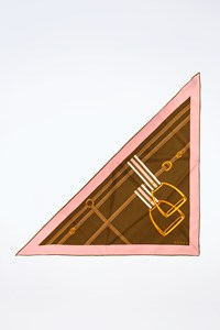 Gucci Multicoloured Triangle Silk Scarf