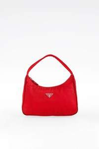 Prada Red Nylon Pochette