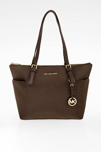 MICHAEL Michael Kors Brown Jet Set Large Saffiano Leather Tote Bag