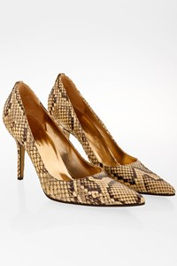Dolce & Gabbana Beige Python Skin Pointed Toe Pumps / Size: 40 - Fit: 39.5