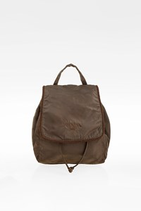 Prada Dark Brown Nylon Mini Backpack