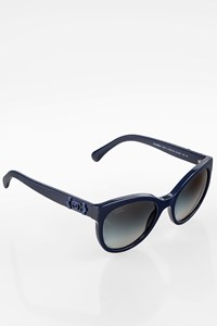 Chanel Polarised Blue Acrylic Sunglasses