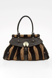 Fendi Sigmature Striped Magic Medium Tote