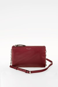 Henri Bendel Purple Leather Crossbody Bag
