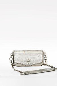 Tory Burch Silver Leather Chelsea Chain Mini Bag