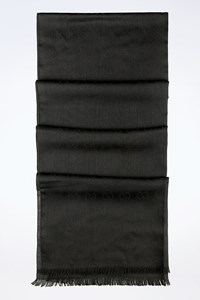 Gucci Black Wool-Silk GG Stole